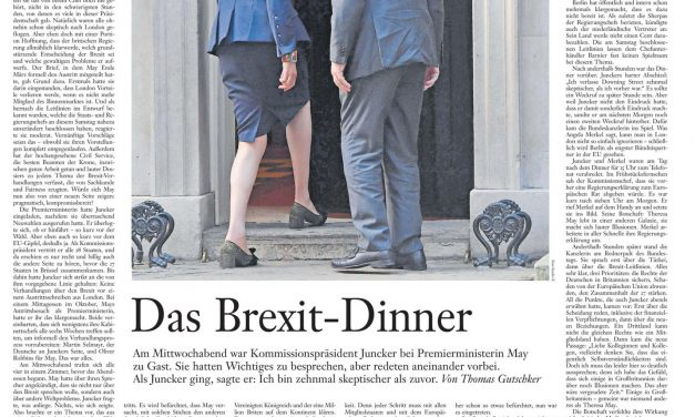 The disastrous #brexit dinner